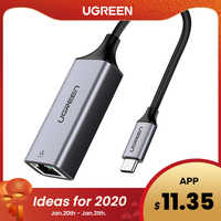 Ugreen USB C Ethernet USB-C à RJ45 adaptateur Lan pour MacBook Pro Samsung Galaxy S9/S8/Note 9 Type C carte réseau USB Ethernet