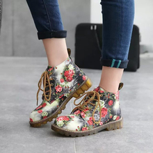 Women Ankle Boots Autumn Female Casual Shoes Woman Flat Fashion Platform Round Toe Lace Up Female Ankle Boots 88816327 liren 2019 spring autumn pu new women fashion sexy ankle lace up boots round toe low flat heels women comfortable boots