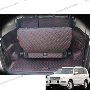цена на lsrtw2017 leather car trunk mat cargo liner for mitsubishi pajero Montero Shogun 2006-2019 2016 2015 2014 2013 2012 2011 2010