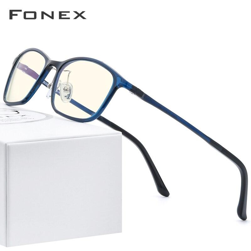FONEX Ultem TR90 Anti Blue Light Glasses Men Goggles Protection Eyewear Spectacle Antiblue Gaming Computer Eyeglasses Women AB03