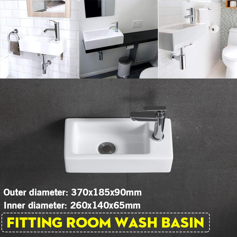 Ceramic Basin Bathroom Sink Right Hand