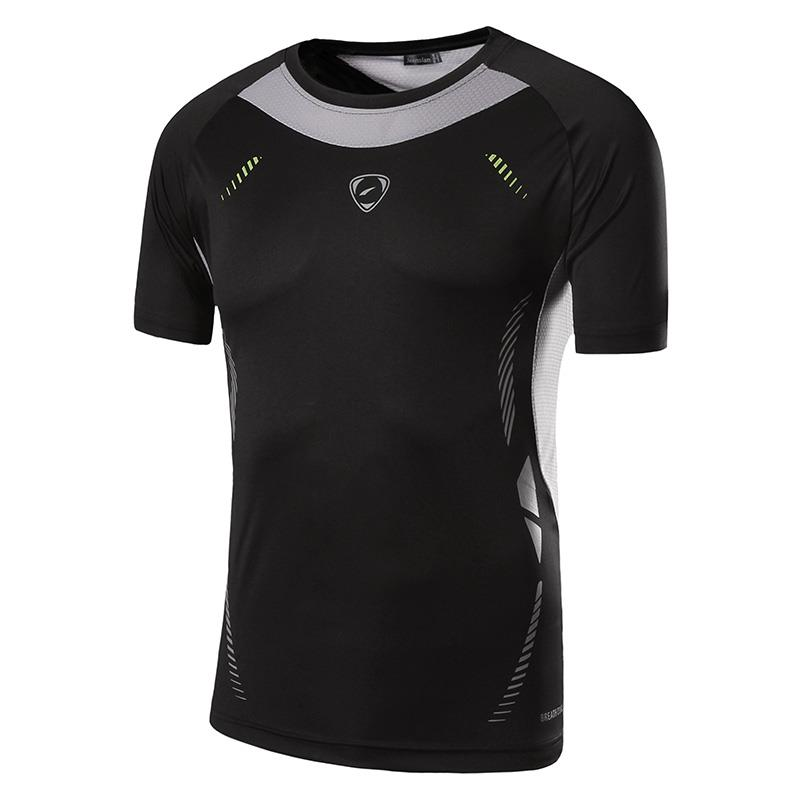 Jeansian Men 39 s Tshirt T Shirt Tee Shirt Sport Dry Fit Short Sleeve Running Fitness Workout LSL3225 Black2 in T Shirts from Men 39 s Clothing