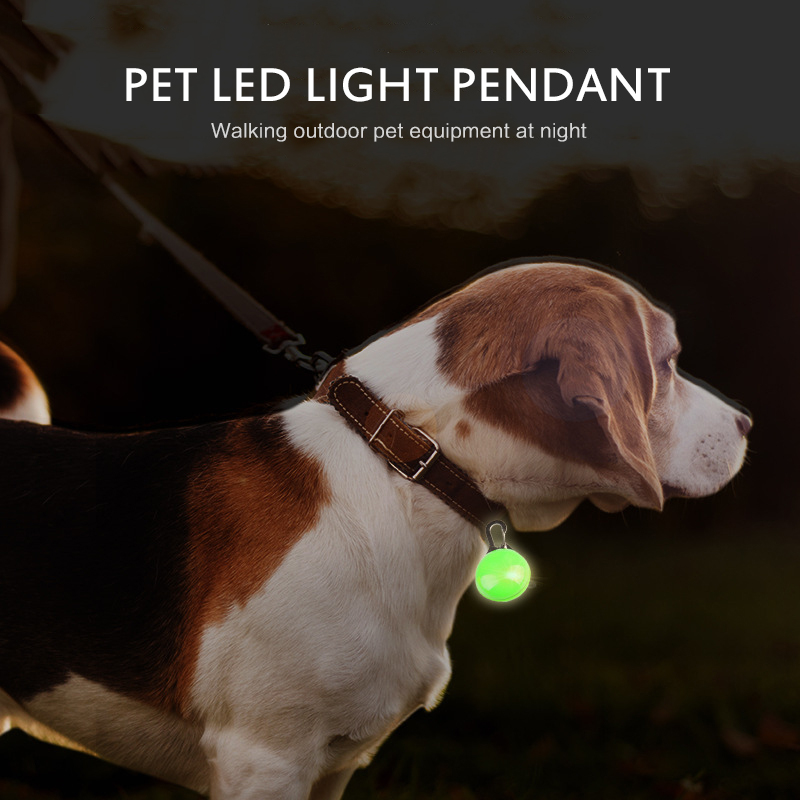 LED Flashlight Dog Cat Collar Glowing Pendant Night Safety Pet Lead Necklace Luminous Bright Decoration Collars Dogs Accessories