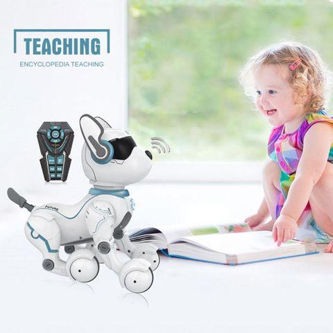 controle remoto robo brinquedo do cao para criancas educacao precoce brinquedo inteligente programacao inteligente duble