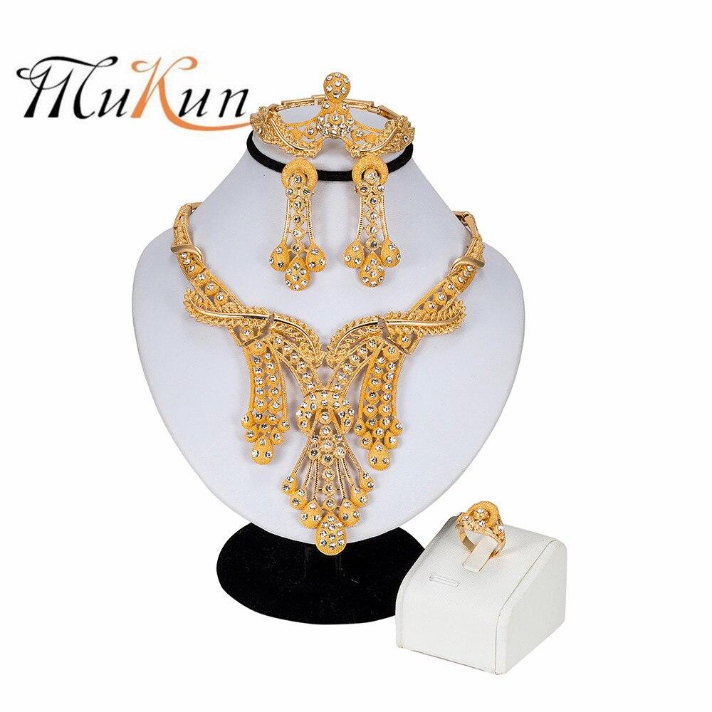 MUKUN Fashion jewelry set African Nigeria Dubai gold-color bead wedding women beads sets