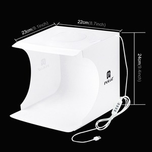 Image 4 - Mini Fotografie Licht Box Verstelbare Ring Led Licht Vouwen Lightbox Photo Studio Soft Box Foto Achtergrond Kit Voor Dslr Camera