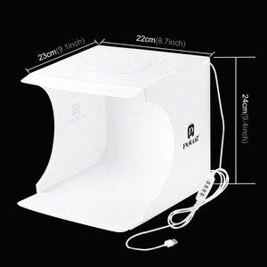 Image 4 - Mini Photography luce casella di Anello Regolabile ha condotto la luce Pieghevole Lightbox Photo Studio Soft box Photo Sfondo di Kit per la Macchina Fotografica DSLR