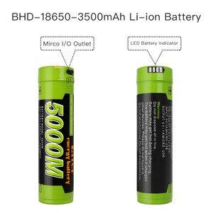 Image 3 - Batteria del computer portatile di ricarica della batteria della banca di Potere 4 Indicatore LED USB 5000M 18650 3.7V 3500mAh Intelligenza Li Ion Ricaricabile batteria