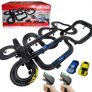 Electric car track racing 1:43 rail double orbit electric RC car toys for children boys gift