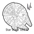 Auf Lager Stern Plan Millennium Falcon Raumschiff Sterne Kompatibel 75192 05132 Modell Bausteine Ziegel Kinder Spielzeug Geschenke Sets