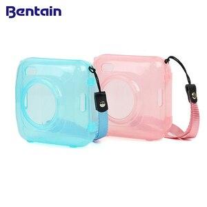 Image 1 - Fashion Transparent Blue Pink Bag Case for PAPERANG P1 Printer Photo Printer Camera Bag Travel Accessories