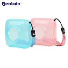 Moda şeffaf mavi pembe çanta kılıfı için PAPERANG P1 yazıcı fotoğraf yazıcı kamera çantası seyahat aksesuarları