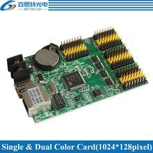 HD-E63 RJ45+USB 4*HUB12 & 2*HUB08 Single color(1024*128 pixels) & Dual color(512*128 pixels) LED display control card