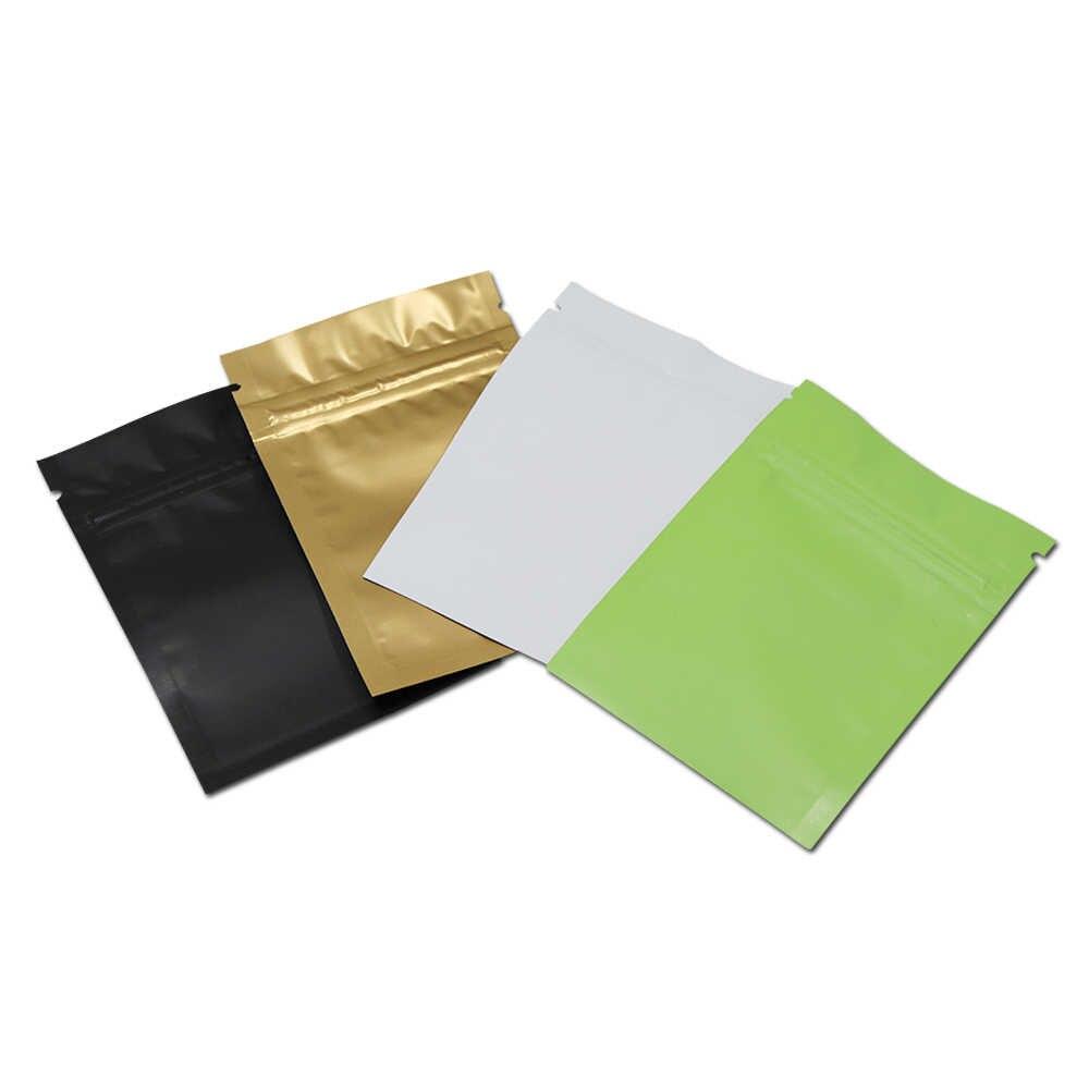 Kleurrijke Aluminium Mylar Folie Voor Zip Voedsel Opslag Lock Pakket Tassen Zelf Seal Rits Lock Verpakking Pouches Herbruikbare Verkoopt Tassen