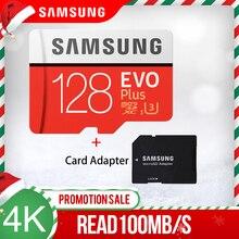 סמסונג זיכרון כרטיס מיקרו sd 64GB 128GB 256GB 512GB EVO בתוספת Class10 עמיד למים TF Memoria ה sim כרטיס חכם טלפונים מצלמה