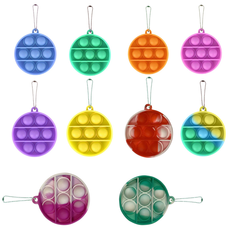 Keychain Toy Fidget-Toys Relief-Toy Pops It Push Bubble Antistress Sensory Simple Dimple img5