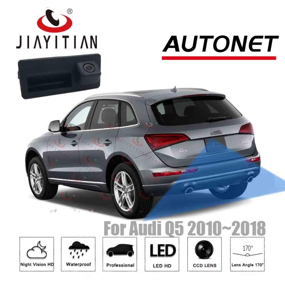 JIAYITIAN Trunk Handle Camera For Audi Q5 2010 2011 2012 2013 2014 2015 2016 2017 2018 CCD HD Rear View Parking Backup Camera