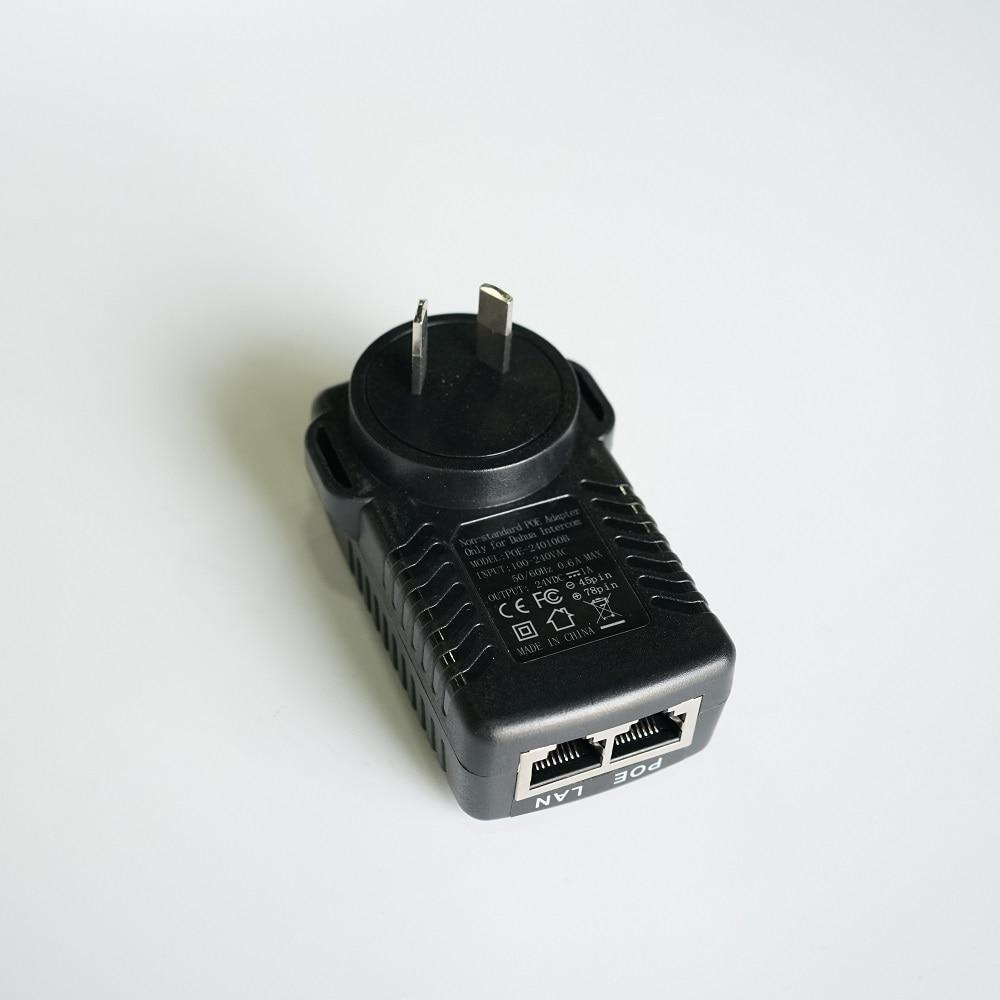 AU Plug, Non-Standard POE Power Adapter,Input AC 100-240V,Output DC24V 1A For DAHUA Video Intercom VTH1550CH VTH5221D VTO2000A