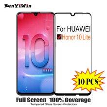 Bộ 10 Tấm Bảo Vệ Màn Hình Kính Cường Lực Full Cover Dành Cho Huawei Honor 10 Lite Trầy Xước Chống Bảo Vệ Cho Honor10 Lite kính Cường Lực