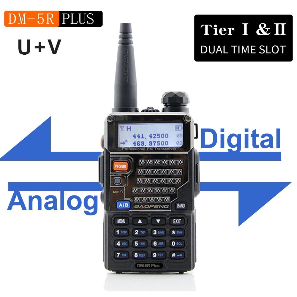 BAOFENG Slot Radio Transceiver Uv-Walkie-Talkie DMR Dual-Band DM5RPLUS 144/430mhz New