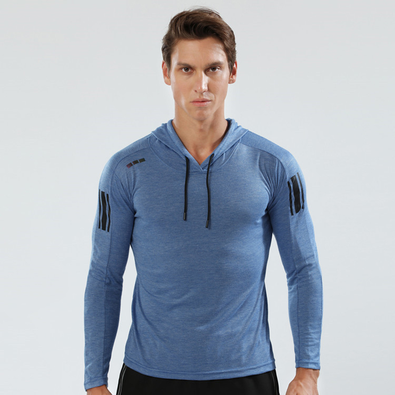 Spring/Autumn Running Jacket Man Sport Shirt Gym Hoodie Outdoor Sports Coat Fitness Long Sleeve Coat Cycling Sportswear Male