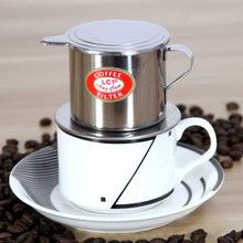 Filtro de café vietnamita de aço inoxidável, infusor de café para cafeteira, uso manual, 1 peça