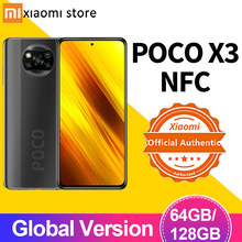 Smartphone poco x3 nfc versão global 6gb 64gb/128gb snapdragon 732g 64mp quad camera 6.67