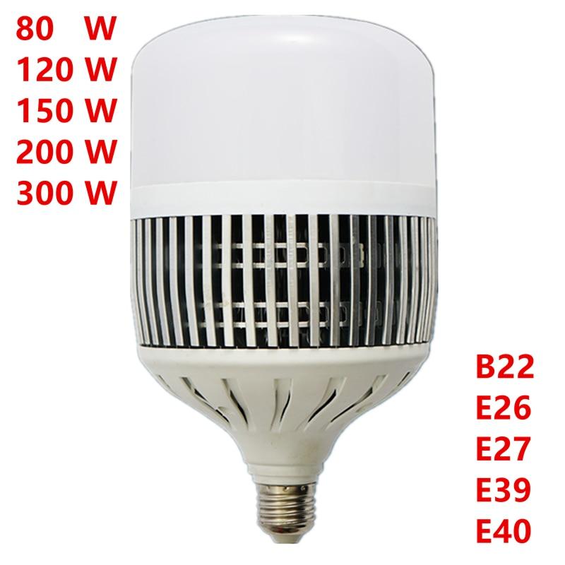 High Power Led Globe Bulb E27 E40 80W 120W 150W 200W 300W AC220V Energy Saving Ball Lamp Home Factory Floor Workshop Lighting