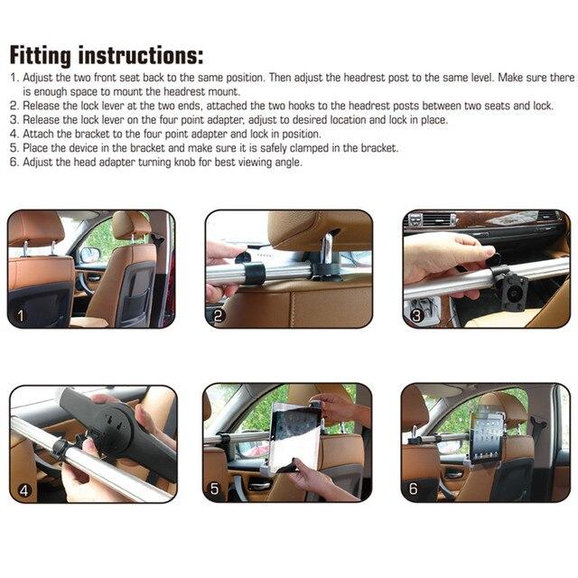 Uchwyt na Tablet PC Auto tylne siedzenie samochodowe zagłówek uchwyt montażowy Tablet uniwersalny na 7-11 Cal na Ipad Xiaomi Samsung