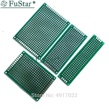 8PS/Lot 5x7 4x6 3x7 2x8cm Double Side Prototype Diy Universal Printed Circuit PCB Board Protoboard pcb kit 3*7 4*6 5*7 Connector