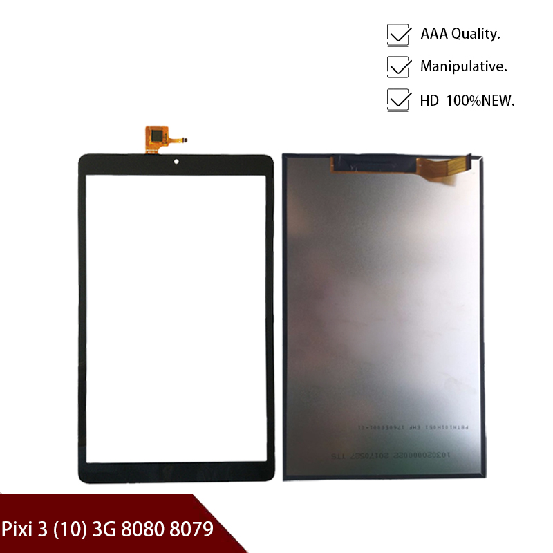 New 10.1'' For Alcatel OneTouch Pixi 3 (10) 3G 8080 8079 Capacitive Touch Screen Panel Lcd Display Digitizer Glass TXDT1010UXPA