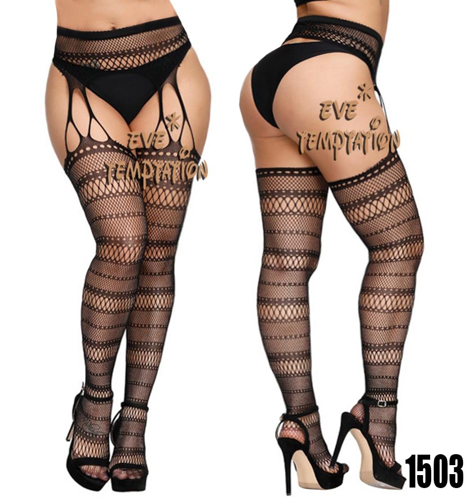 H5866b21b570e4c45b0b4f28337183bfcn Medias de lencería Sexy, medias de lencería, liguero, pantimedias elásticas, lencería transparente de talla grande