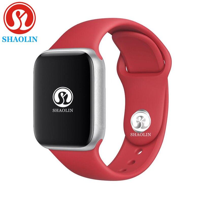 Hommes femmes Bluetooth montre intelligente série 4 1:1 SmartWatch 42mm pour apple Watch iOS Android Samsung téléphone fréquence cardiaque ECG podomètre