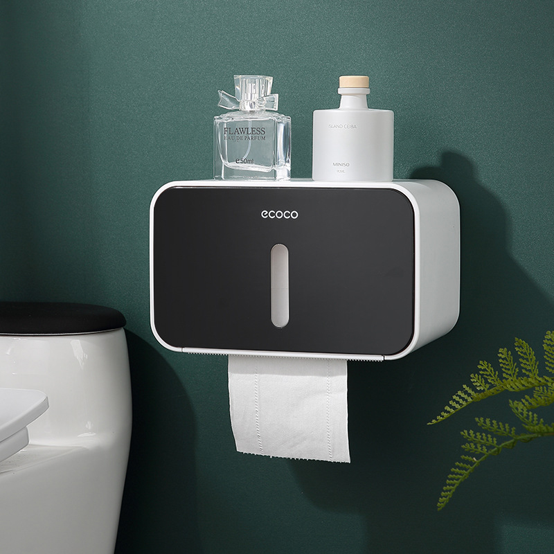 Waterproof Toilet Paper Holders Wall Mounted Toilet Tissue Stroage Portable Roll Holder Stand Multi-function Paper Organizer