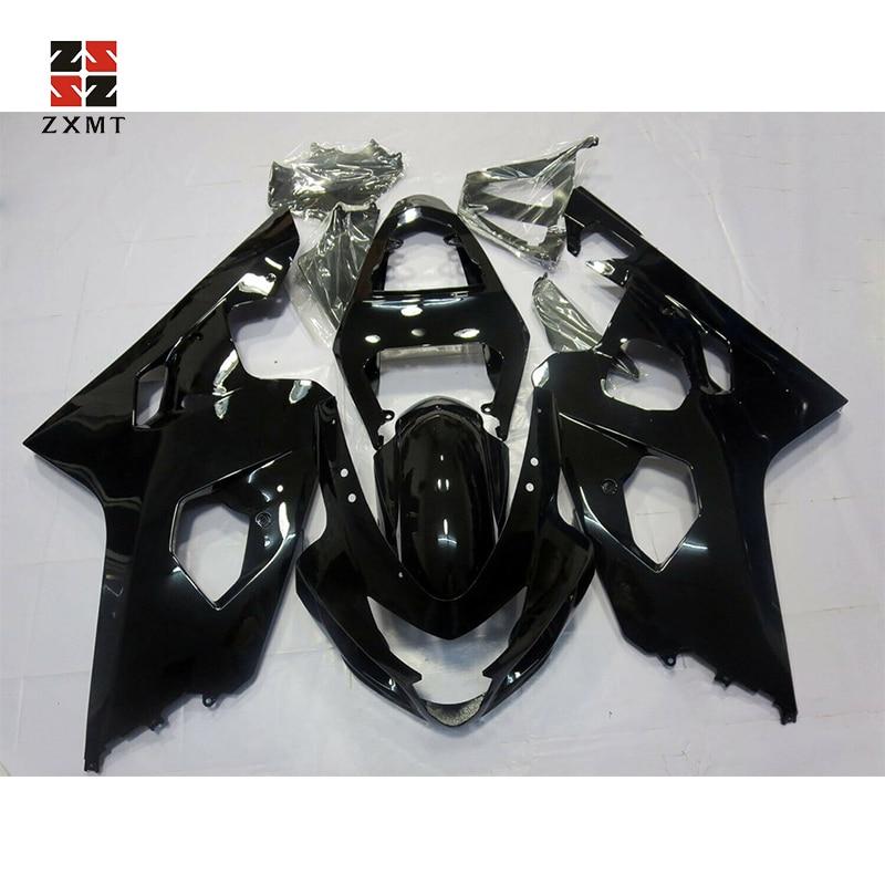 ZXMT Fairing Kit for Suzuki GSXR600 GSXR750 2004 2005 ABS Injection Gloss Black Matte Bodywork