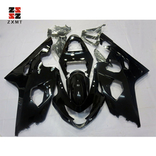 ZXMT Fairing Kit for Suzuki GSXR600 GSXR750 2004 2005 ABS Injection Gloss Black Matte Black Bodywork