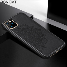 For iPhone 11 Pro Max Case Frame Cloth Fabric Flower Anti-knock Cover 6.5 inch