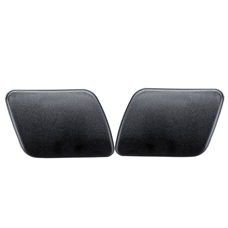 Left+Right Front Headlight Washer Sprayer Cover Cap L R Black Color For Golf 4 IV Mk4 1998-2006