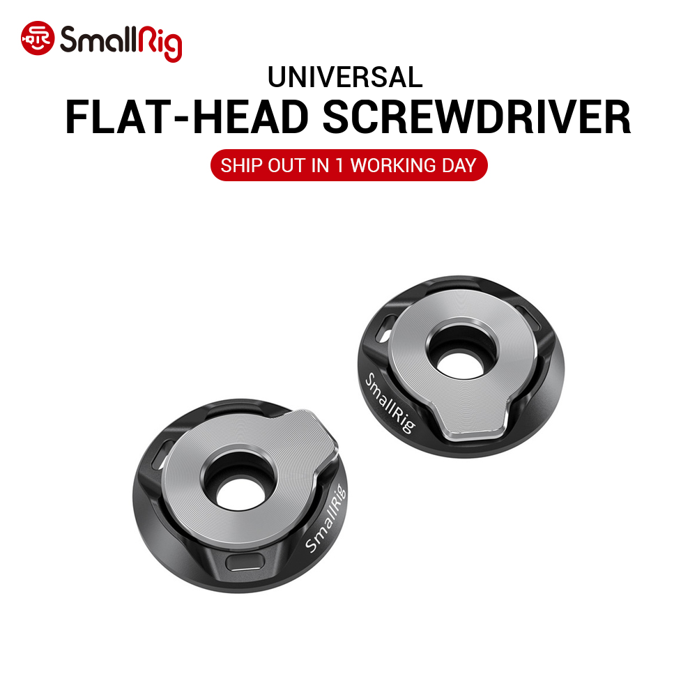 SmallRig DSLR Camera Rig Flat-Head Screwdriver With Baseplate Kit (Pair) Easy Carry  2453
