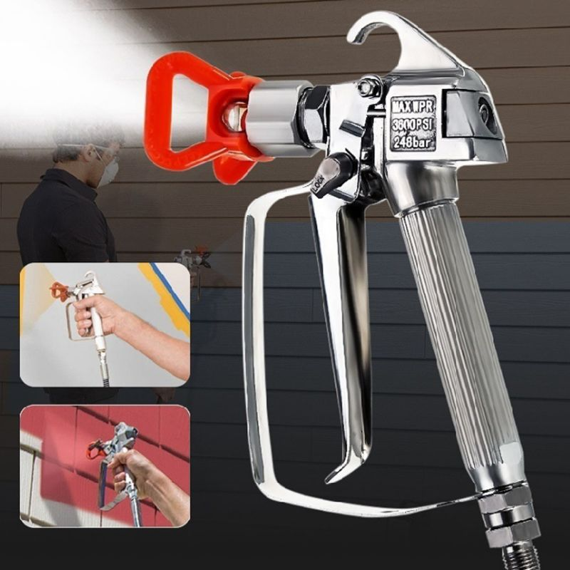 Airless Paint Spray Gun Sprayer For Stone Paints Putty Auto Painting Car Wall