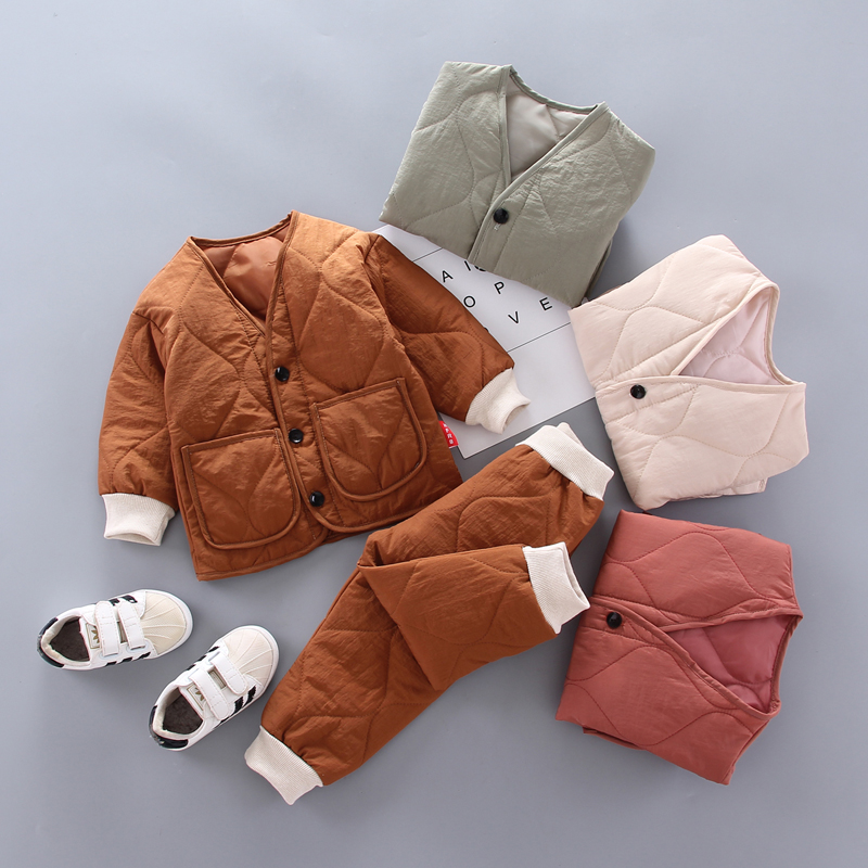10.94US $ 42% OFF Winter Children Kids Clothing Sets Warm Faux Down Coat Clothing Sets Baby Girls Ba...