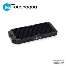 """Bitspower Touchaqua 240 мм медный радиатор G1/"""" 120x2 мм радиатор водяного охлаждения комплект сборка аксессуар черный"""