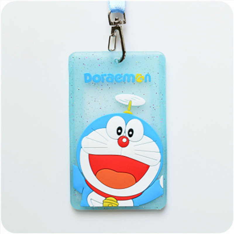 Cartoon Cute Kawaii Animal Card Holder School Home Students Kids Child Bus ID Card Passport Card Holder Holder Case With String