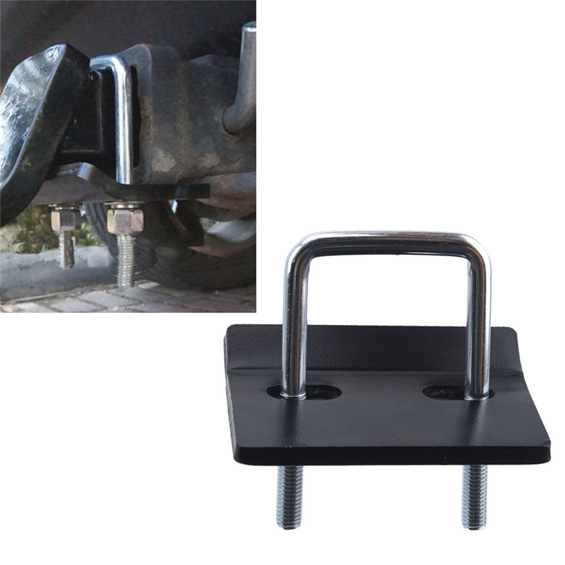 1 Set Of Black 1 Trailer Piece + 1U Type Screw + 2 Nut + 2 Pad + 2 Washer Trailer Hook Bar Trailer Arm Trailer anti-loose Device