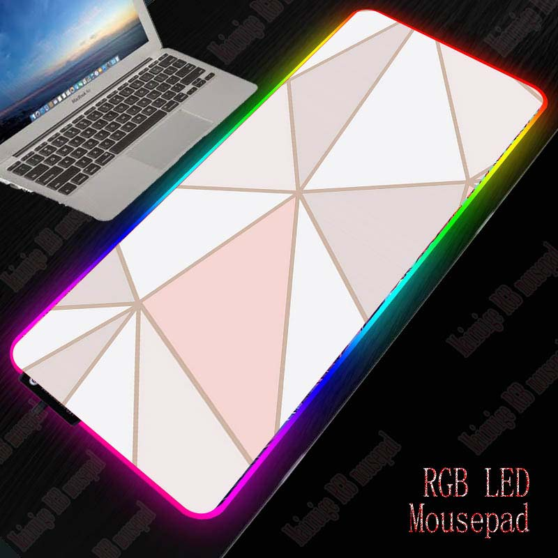 XGZ Gaming Mouse Pad RGB Large Mouse Pad Gamer Big Mouse Mat Computer Mousepad Led Backlight Marble Mause Pad Keyboard Desk Mat 1
