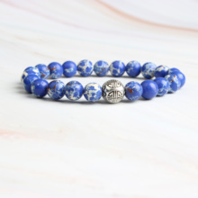 Linxiang natural 8mm lapis lazuli bracelet, male and female fashion energy Charm Bracelet Jewelry Gifts