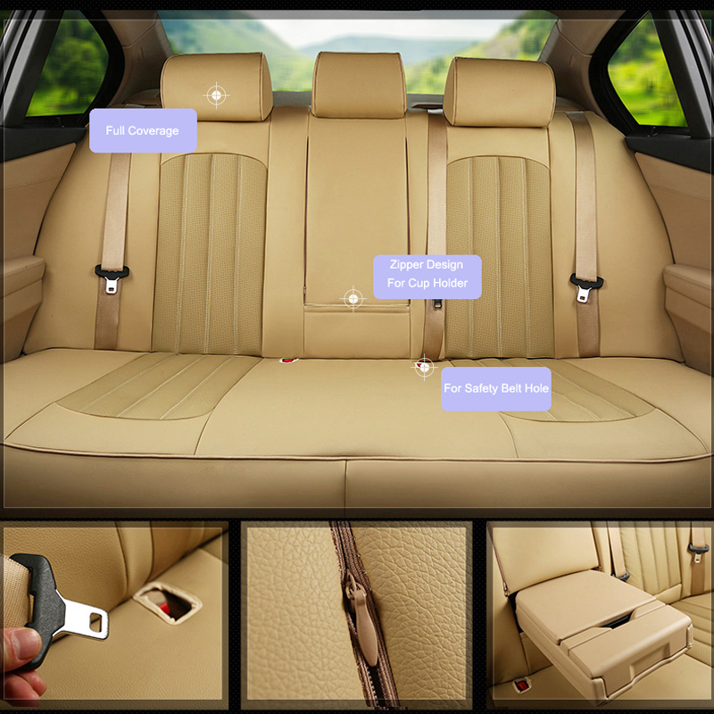 Mercedes-Benz C-klasse W204  SEAT COVERS PERFORATED LEATHERETTE eco-leather