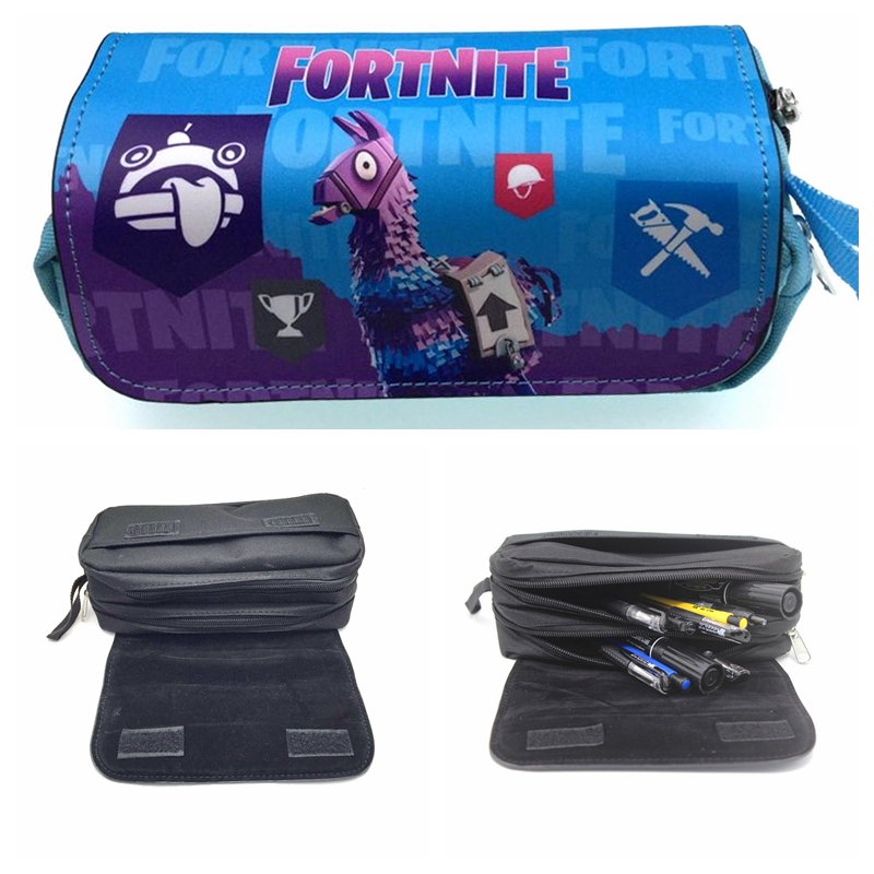 FORTNITE Pencil Case Student Stationery Box Unicorn Digital Printing Pencil Bag Stationery Gift