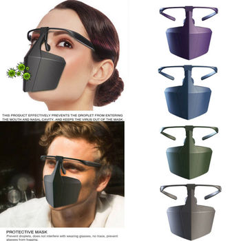 Reusable Antiviral Face Shield Isolated Mask Plastic Anti-fog Seal Mouth Hood Protective Mask