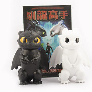 2pcsset  3 Toothless Night Fury Light Fury PVC Action Figure Collectable Model Toy Doll Gift